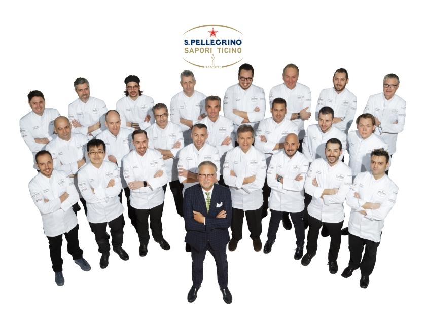 Foto gruppo S.Pellegrino Sapori Ticino 2017